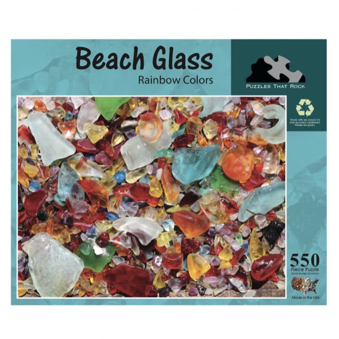 Beach Glass Rainbow Colors 550 pc Puzzle
