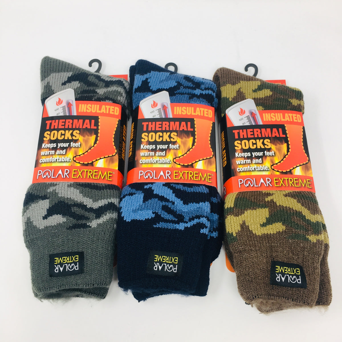 Mens Insulated Thermal Camo Socks