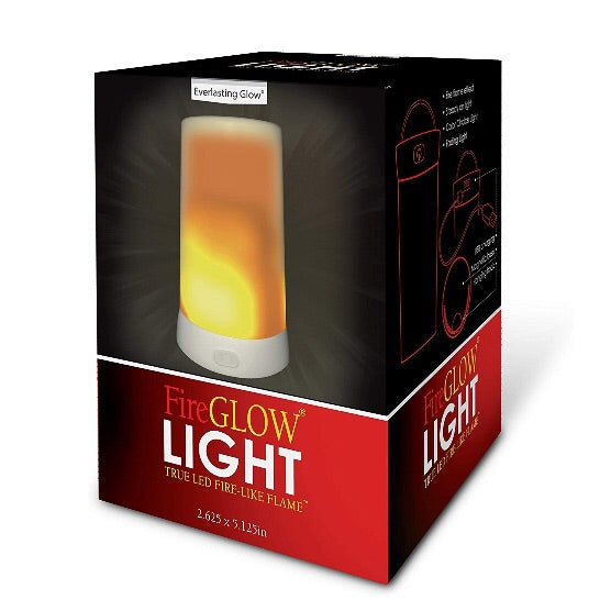 Fire Glow Multi Function Rechargable Light w/ Magnetic Base