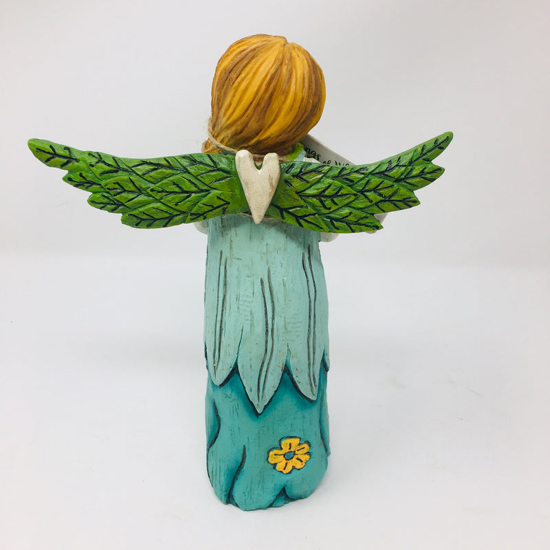 Bluebird of Happiness Angel Statue