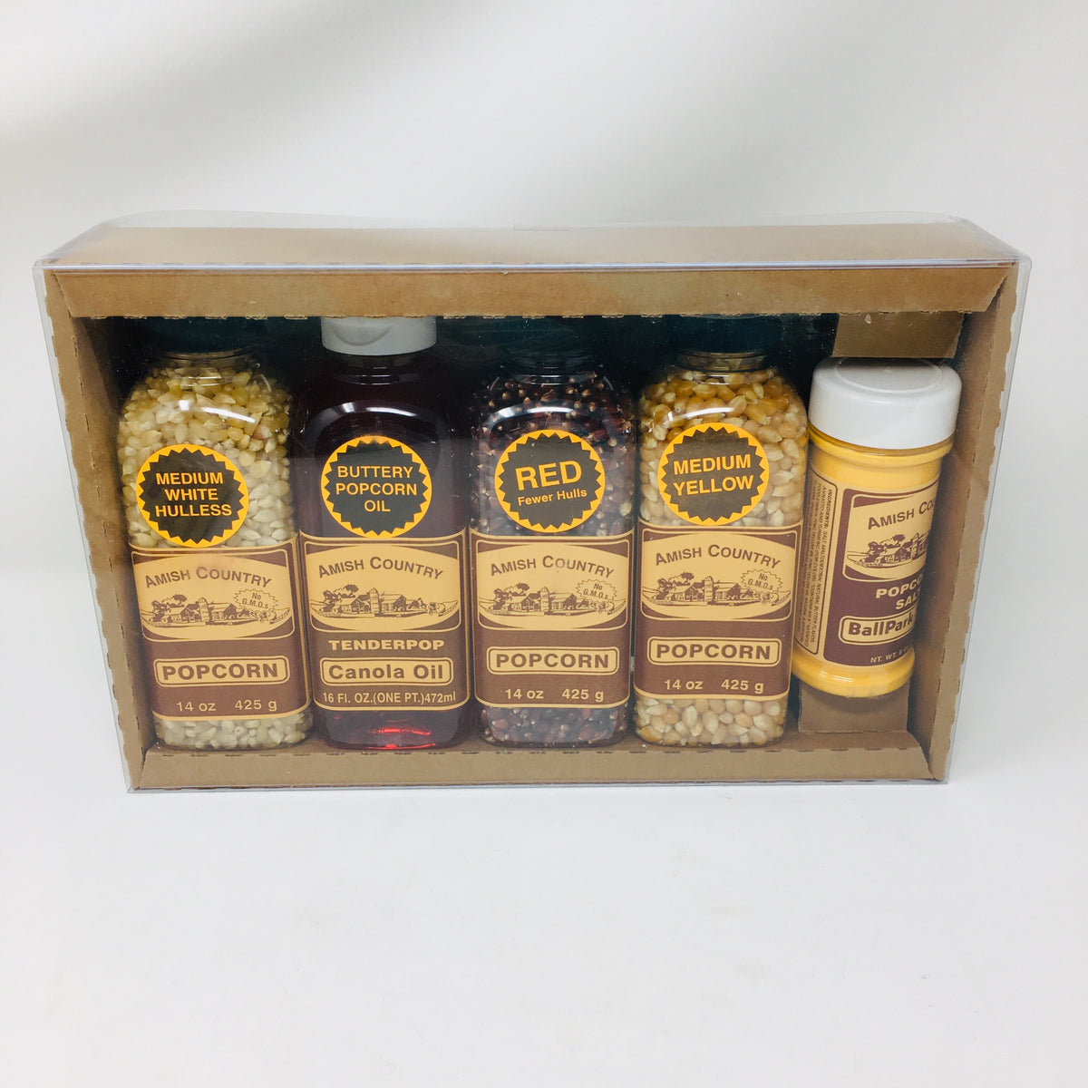 Popcorn Gift Box of Bottles With Oil & Salt