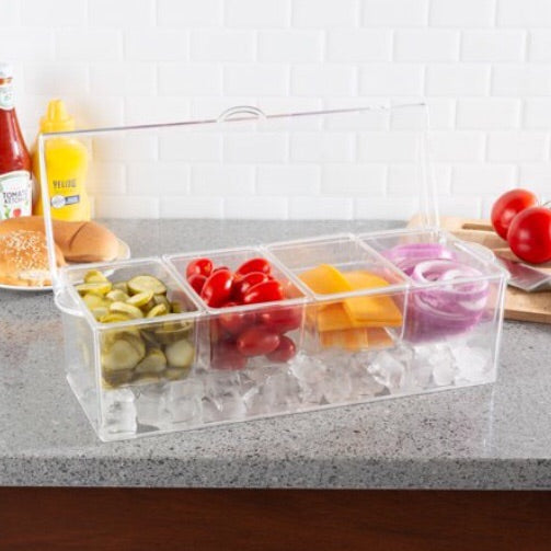 Condiment Tray w/Ice Chiller