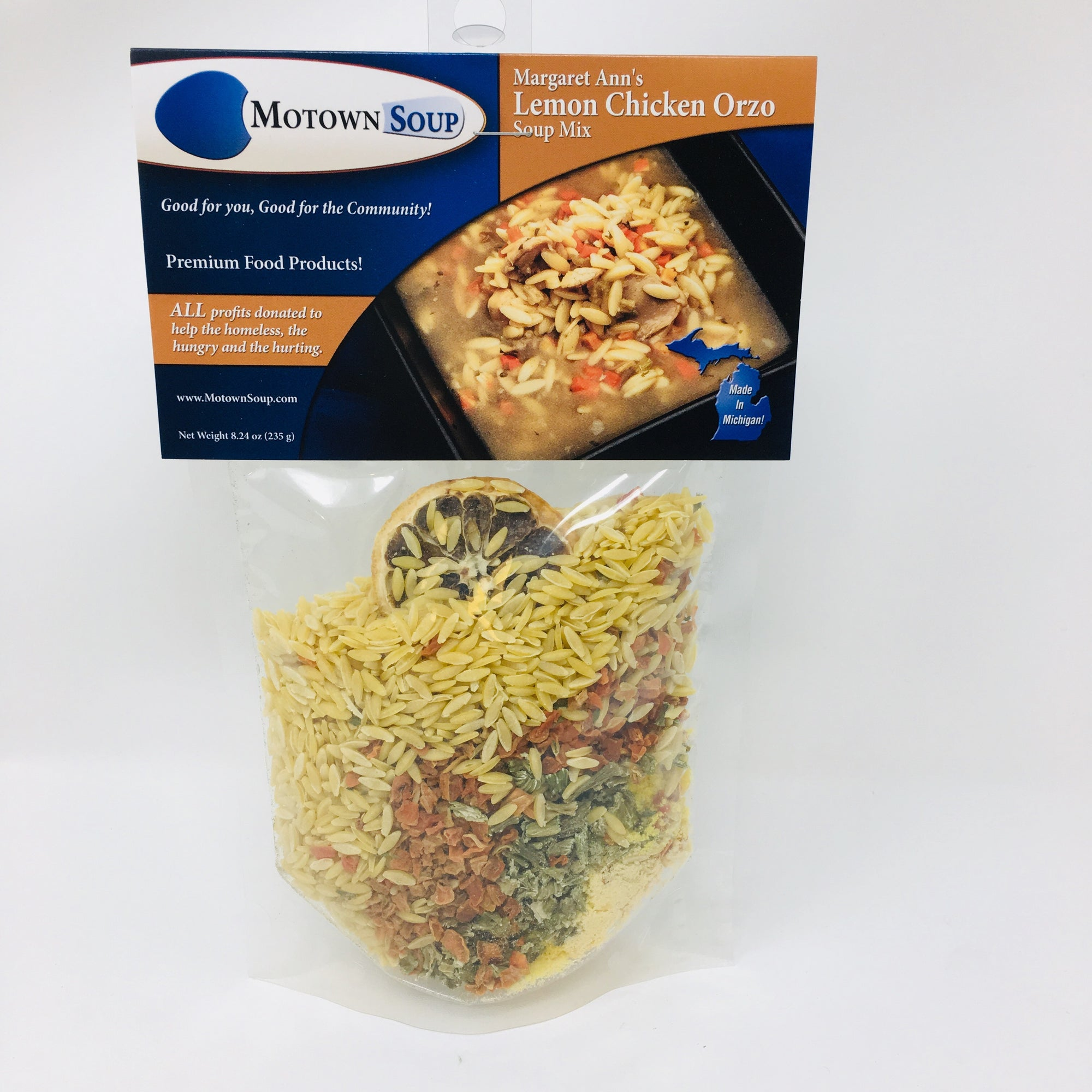 Lemon Chicken Orzo Soup Mix