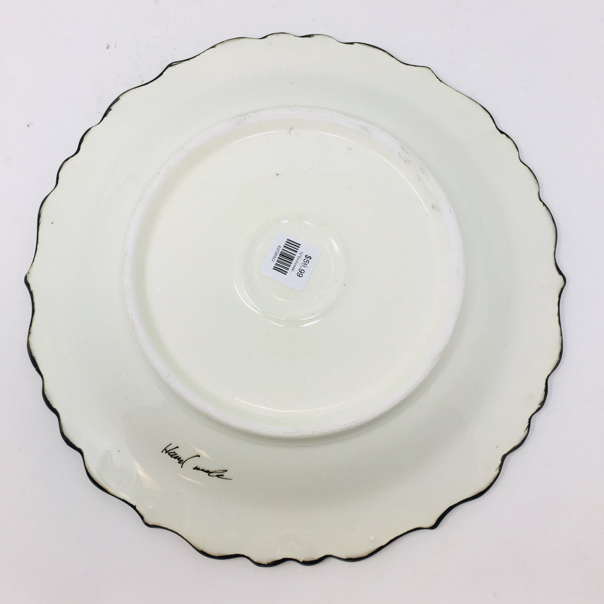 "12"" Embossed Round Plate"