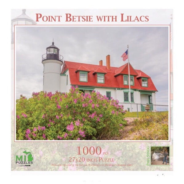 Point Betsie With Lilacs 1000 pc Puzzle
