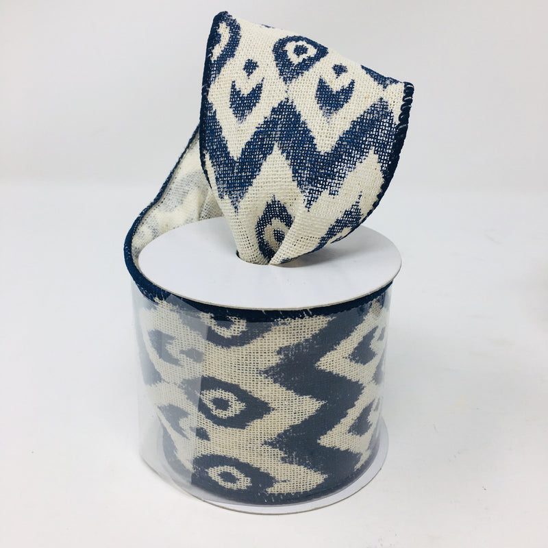 Blues patterned ribbon roll