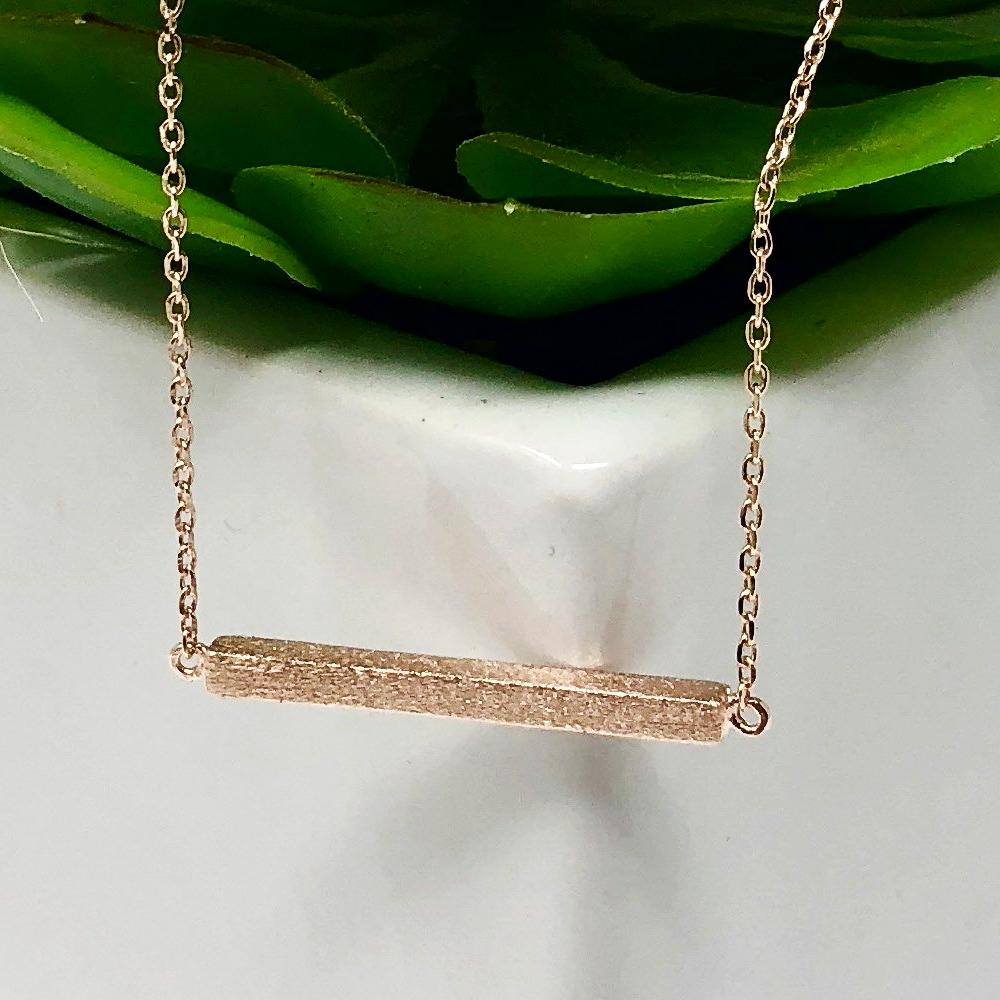 Rose Gold Bar Must-Have Necklace