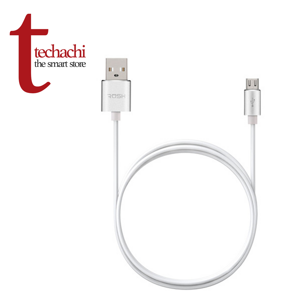 Rush Luxury Line - Micro USB Cable 6ft - Silver