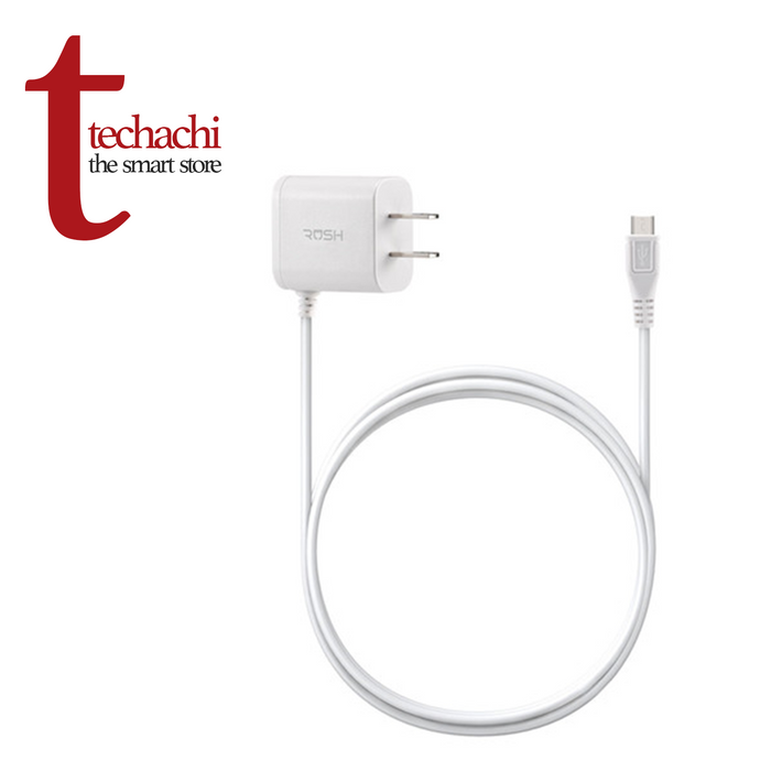 Rush Micro USB Home Charger 4ft - White