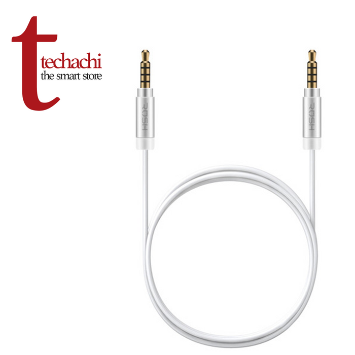Rush Stereo Auxiliary Cable 6ft - White