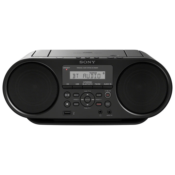 Sony ZS-RS60BT Bluetooth Portable Boombox - Black