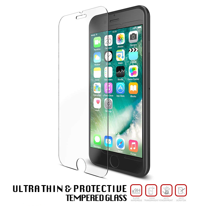 Apple iPhone 7 Tempered Glass - Screen Protection - 1 Pack