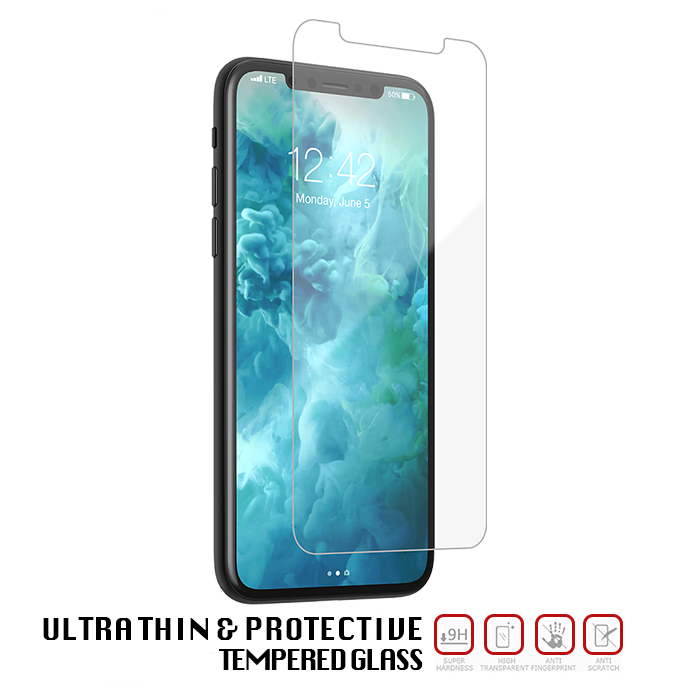 Apple iPhone Xs Max Tempered Glass - Screen Protection - 3 Pack