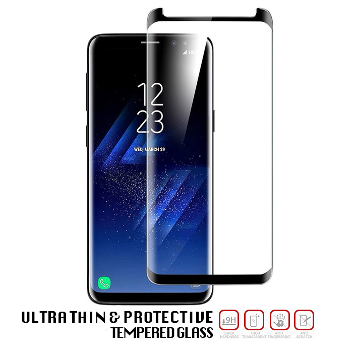 Samsung Galaxy S8 Plus Tempered Glass - Screen Protection - 3 Pack