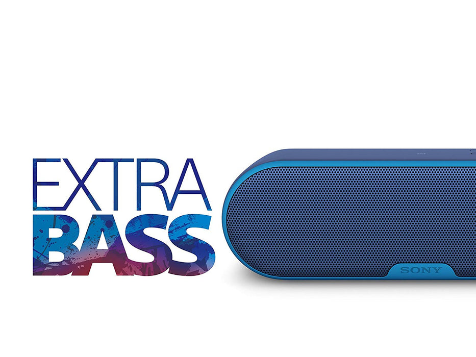 Sony EXTRA BASS Water-Resistant Bluetooth Wireless Speaker (SRS-XB2) - Blue