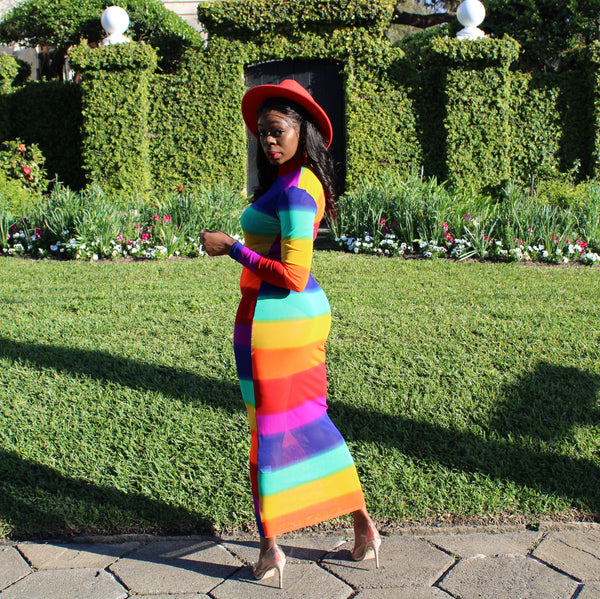 Skittles- Rainbow Dress (Small to 3XL)