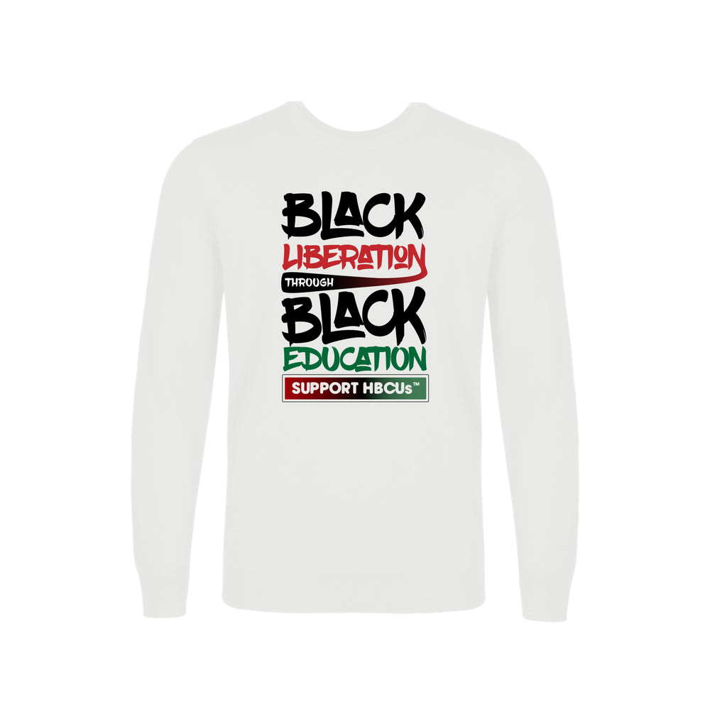 Black Liberation through Black Education Crewneck Sweatshirt
