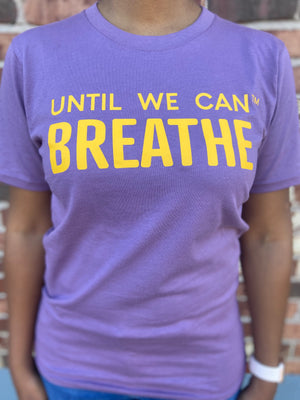Until We Can Breathe Short Sleeve T-Shirt (Purple/Gold)