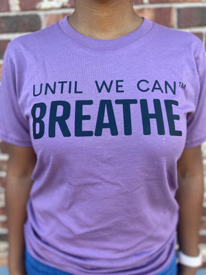 Until We Can Breathe Short Sleeve T-Shirt (Purple/Black)