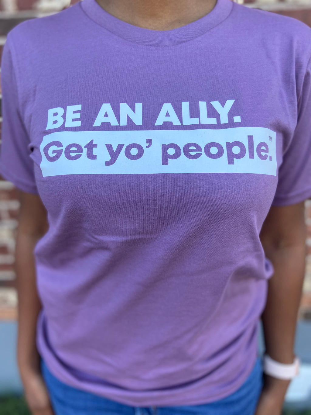 Be An Ally Short Sleeve T-Shirt (Purple)