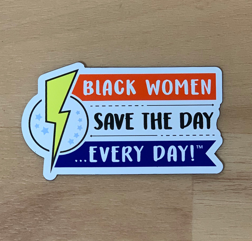 Black Women Save the Day Magnets