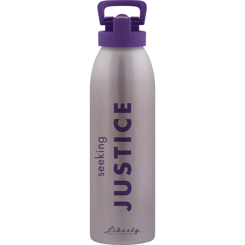 BPA free sustainable water bottle made from 100% recycled aluminum seeking justice