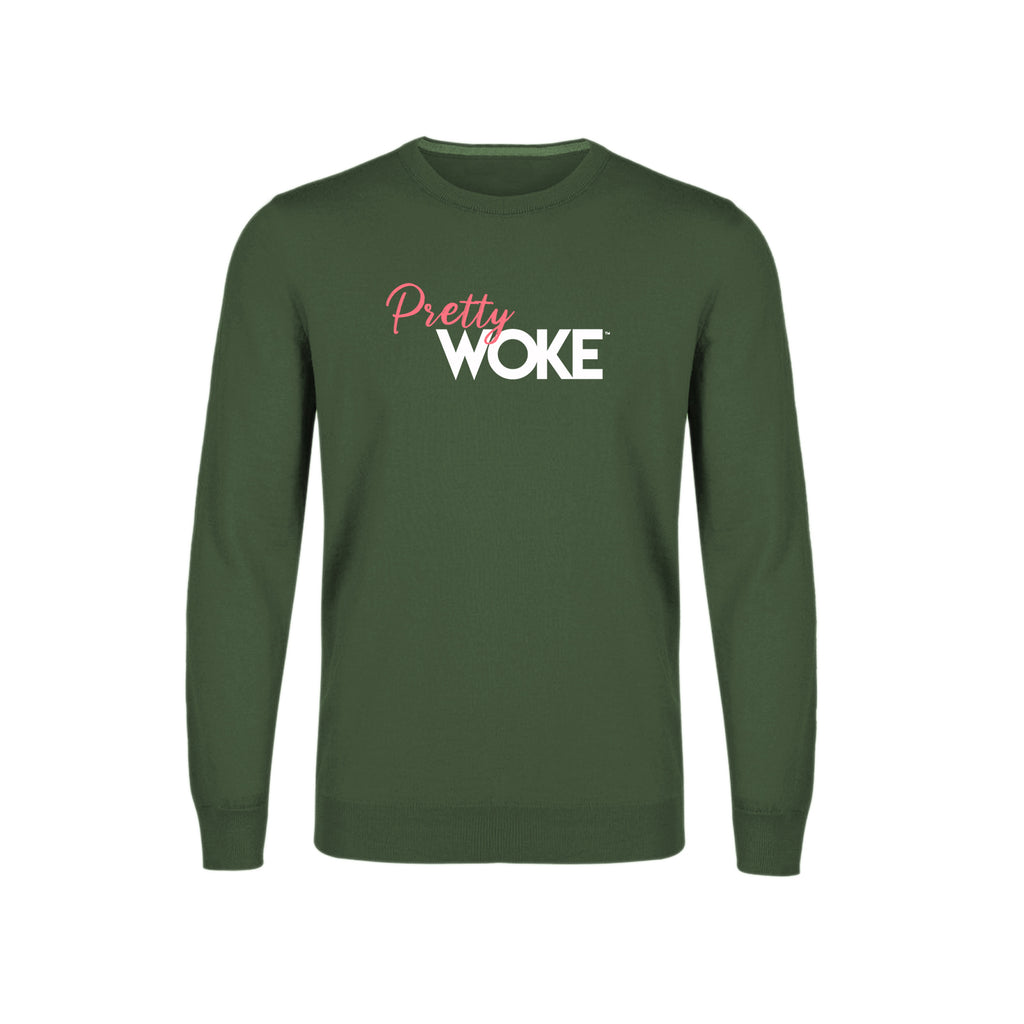 Pretty Woke Women's Crewneck Sweatshirt