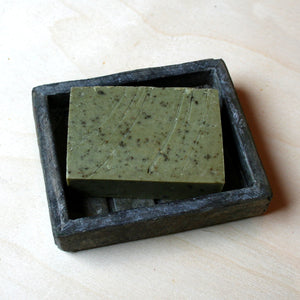 """Woke"" (eucalyptus and peppermint oils) handmade, all natural, vegan, cruelty-free soap with some fair trade ingredients"