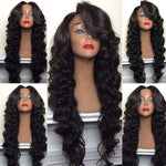 Full Lace Wig Virgin Malaysian Loose Wave