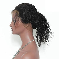 Pre-Plucked Virgin Brazilian Deep Wave Lace 360 Frontal