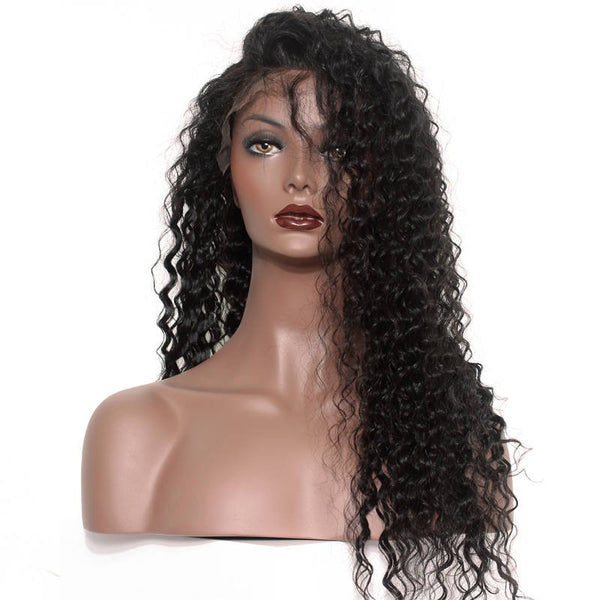 Virgin Brazilian Deep Wave lace front wig