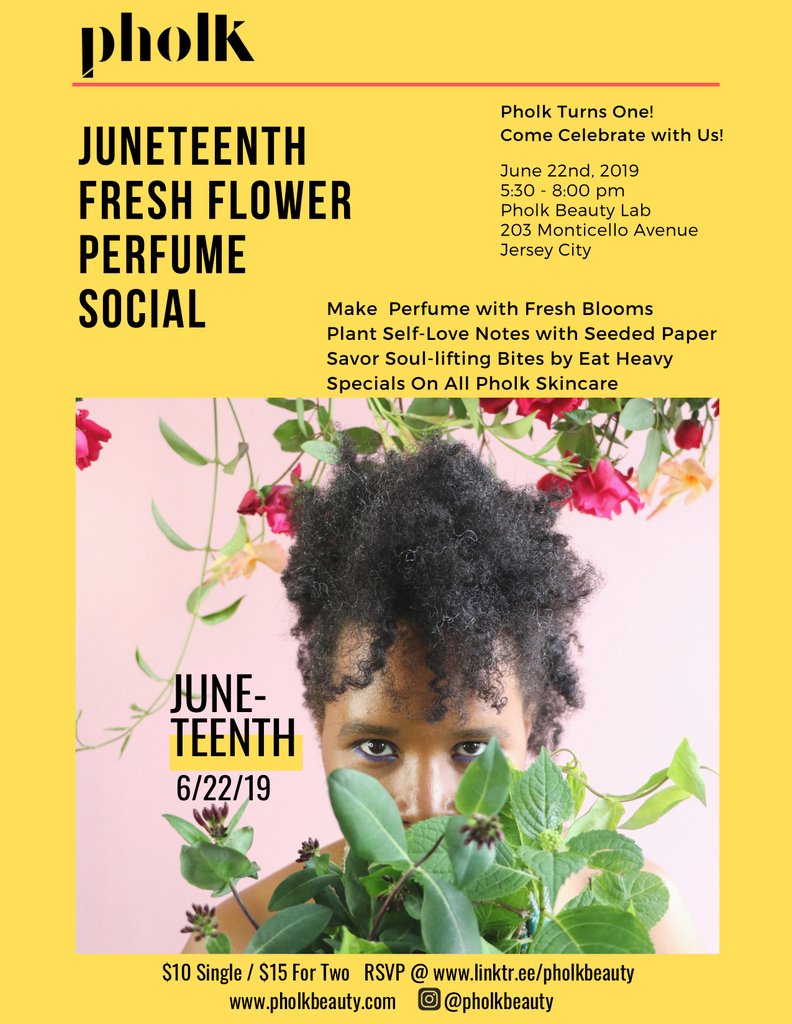 Juneteeth Fresh Flower Perfume Social