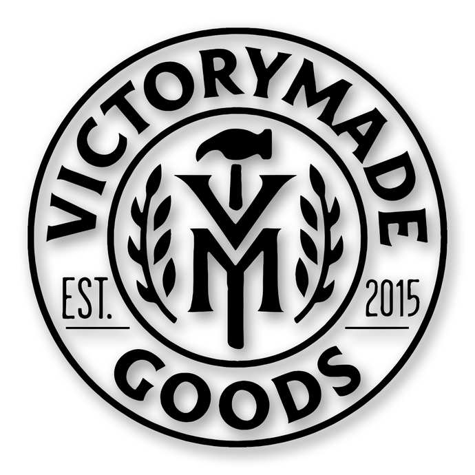 Victorymade Badge 2.0 Die Cut Sticker Black