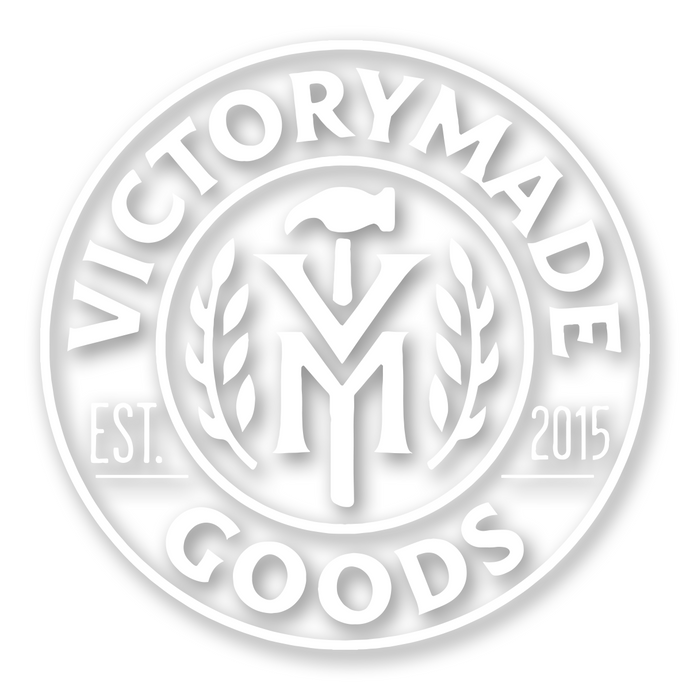 Victorymade Badge 2.0 Die Cut Sticker White