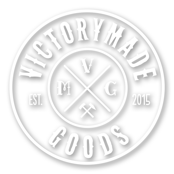 Victorymade Badge Die Cut Sticker White