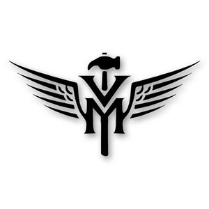 Victorymade Winged Hammer Die Cut Sticker Black