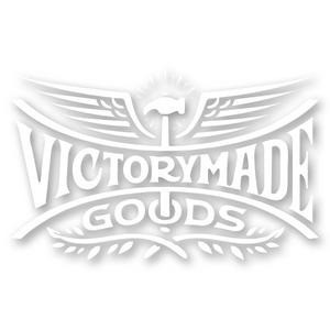 Victorymade Winged Die Cut Sticker White