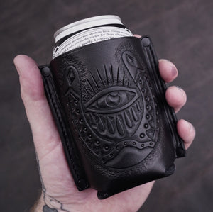 GOOD LUCK LEATHER KOOZIE