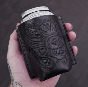 FTW LEATHER KOOZIE