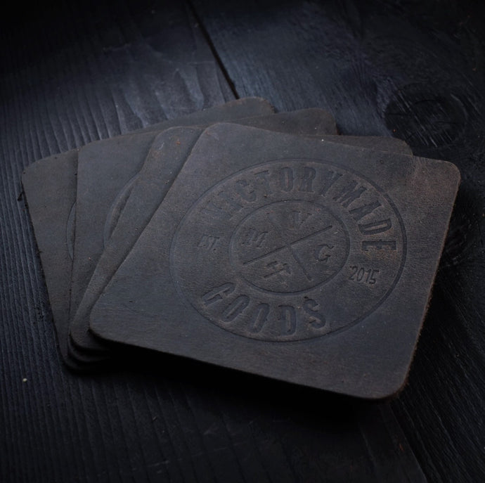 OIL TAN COASTER SET - STONEWASH