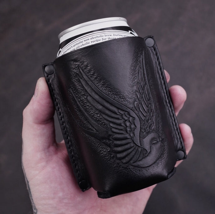 SWALLOW LEATHER KOOZIE