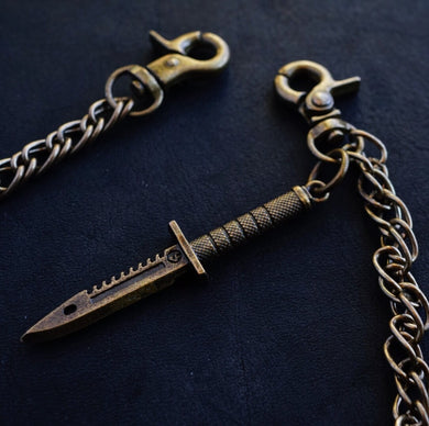 SOLID BRASS DAGGER CHAIN