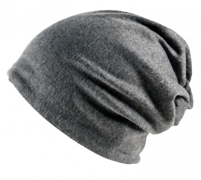 Plain Slouch Beanie Hat Cap Baggy Oversized Stretch Unisex Med Grey ... e85a3c0a6c1