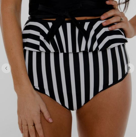 Cabana Reversible Bottoms - Black