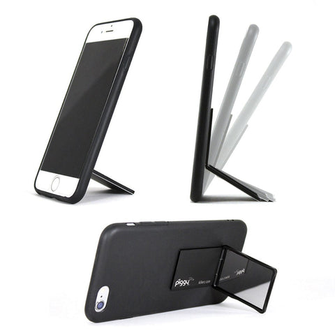 A phone stand that can hold your phone horizontally or vertically