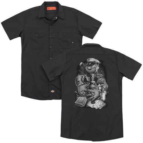 Popeye - Mine All Mine (Back Print) Adult Work Shirt