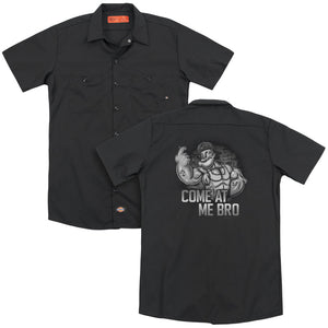 Popeye - Come At Me(Back Print) Adult Work Shirt