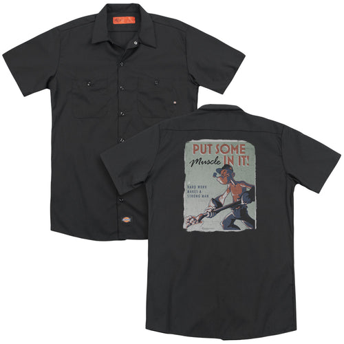 Popeye - Hard Work(Back Print) Adult Work Shirt