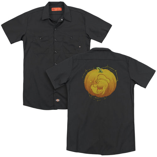 Popeye - Pop O Lantern(Back Print) Adult Work Shirt