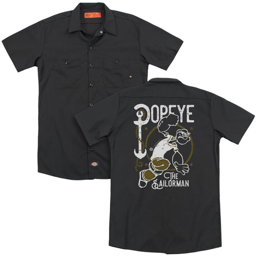 Popeye - Vintage Sailor (Back Print) Adult Work Shirt
